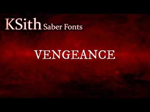 Vengeance - Custom Saber Sound Font