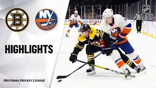 NHL Highlights | Bruins @ Islanders 2/29/20