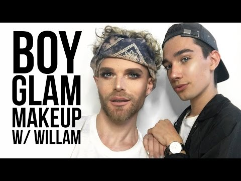 BOY GLAM MAKEUP TUTORIAL W/ WILLAM