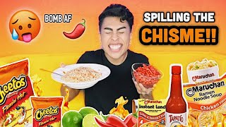SPICY MARUCHAN AND HOT CHEETOS MUKBANG!! | Louie's Life