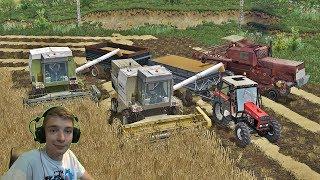 ŻNIWA NA 3 KOMBAJNY 2017 JĘCZMIEŃ ! Fortschritt & Bizon Farming Simulator 2017 !