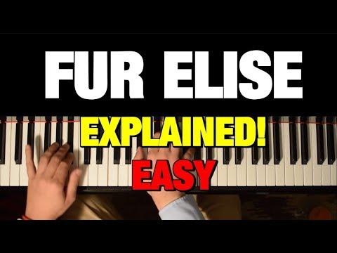 BEETHOVEN - FUR ELISE - PIANO TUTORIAL
