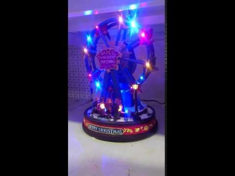 LED Musical Christmas Ferris Wheel LIGHTS/MOTION/MUSIC
