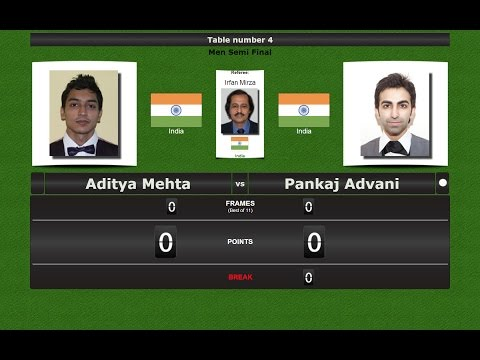 Snooker 6 reds 1/2 Final : Aditya Mehta vs Pankaj Advani