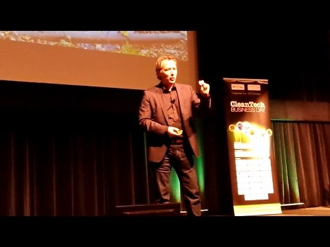 The Elevator Pitch of founder Aris de Groot of Ecovat at Clean Tech Business Day 2014
