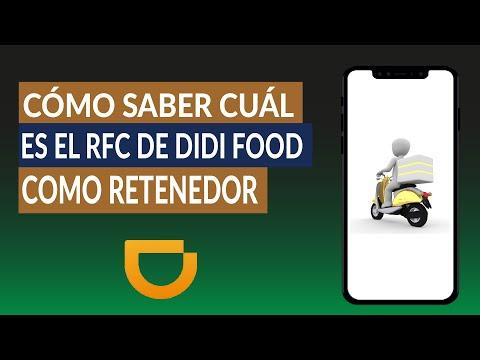 Cómo Saber Cuál es el RFC de DIDI Food como Retenedor - Aquí la Respuesta