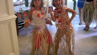 Natalie And Cat Doing The Hula ... Hilton Head 2008