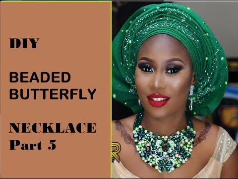 DIY Beaded Butterfly Necklace Part 5