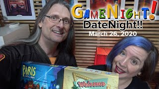 GameNight - Date Night!! - Paris The City of Lights, Welcome To... The Game Quick and Easy