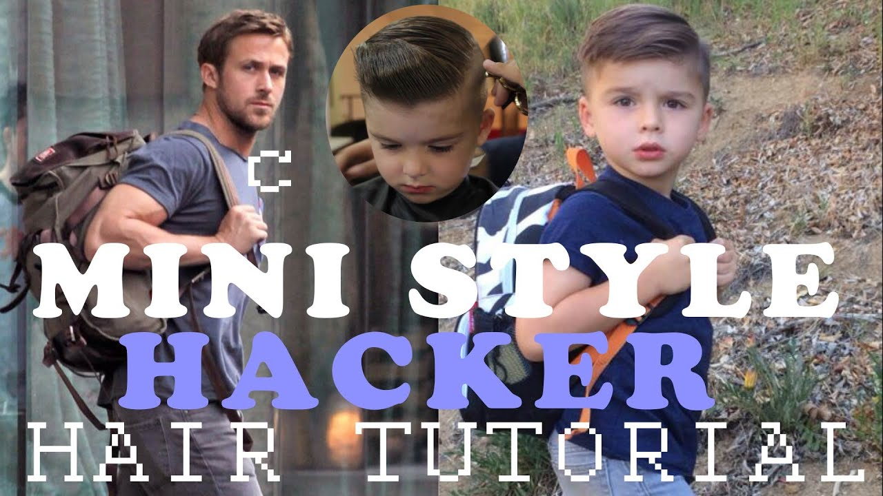 How To Give Your Kid An Undercut Mini Style Hacker Hair Youtube
