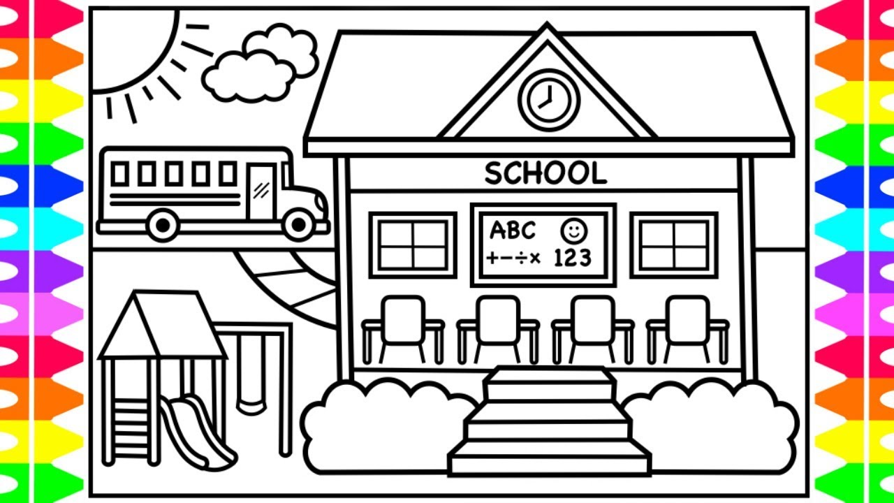 Kids At School Coloring Page - GetColoringPages.com | 720x1280