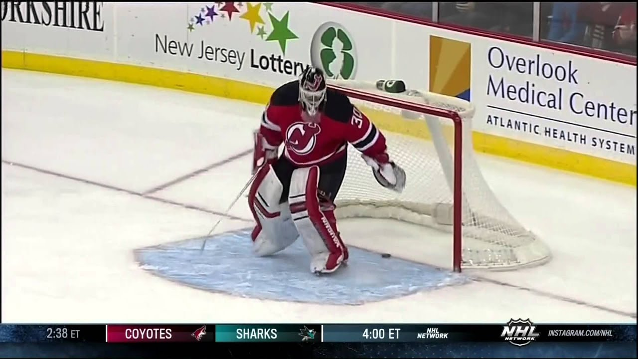Martin Brodeur Gets Caught Out Of Net Feb 9 2013 Pittsburgh Penguins