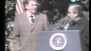 Alfonsín en Estados Unidos: enfrentamiento con Reagan y discurso en el Capitolio, 1985 (fragmento)