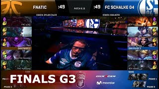 Fnatic vs FC Schalke 04 - Game 3 | Grand Finals S8 EU LCS Summer 2018 | FNC vs S04 G3