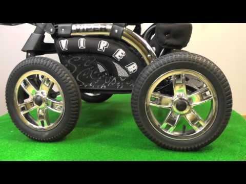 Детская коляска трансформер Riko VIPER BLACK б.у.