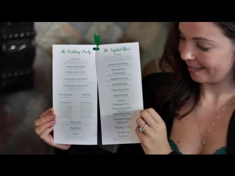 How To Design Wedding Program Template | How To Design Wedding Programs Diy Wedding Invitations Youtube