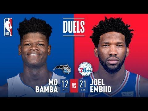 Mo Bamba vs Joel Embiid Battle Of The Bigs | 2018 NBA Preseason
