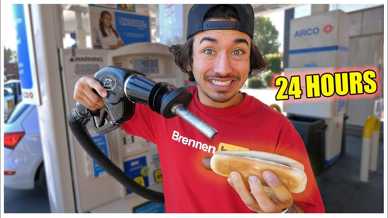 I Only Ate Gas Station Food For 24 hours ... (IMPOSSIBLE FOOD CHALLENGE)