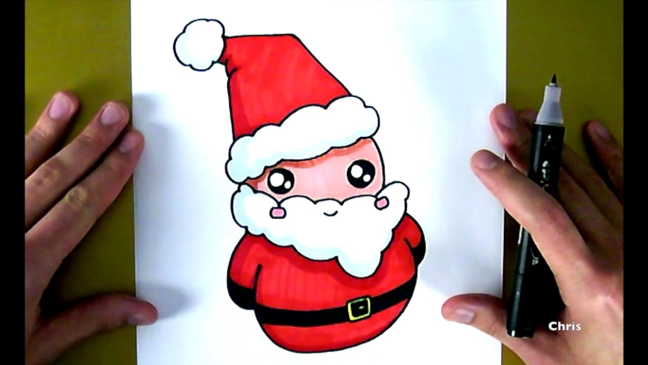 Come disegnare il babbo natale chris disegna youtube - Pere noel dessins ...