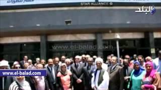 بالفيديو والصور .. وقفة تضامنية لدعم مصر للطيران بأسوان