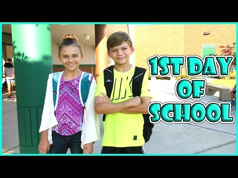 KAYLA AND TYLER'S FIRST DAY OF SCHOOL 2016 | We Are The Davi