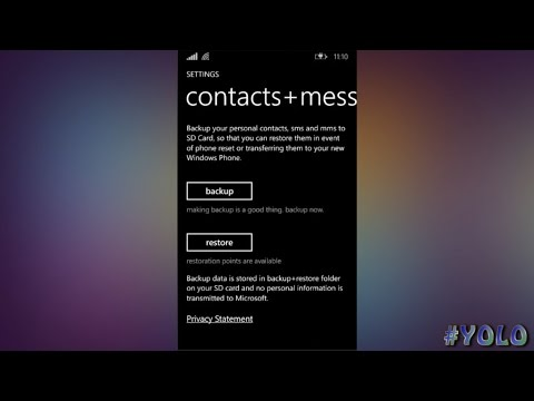 Lumia  Backup Contacts & Sms - Easy 2016