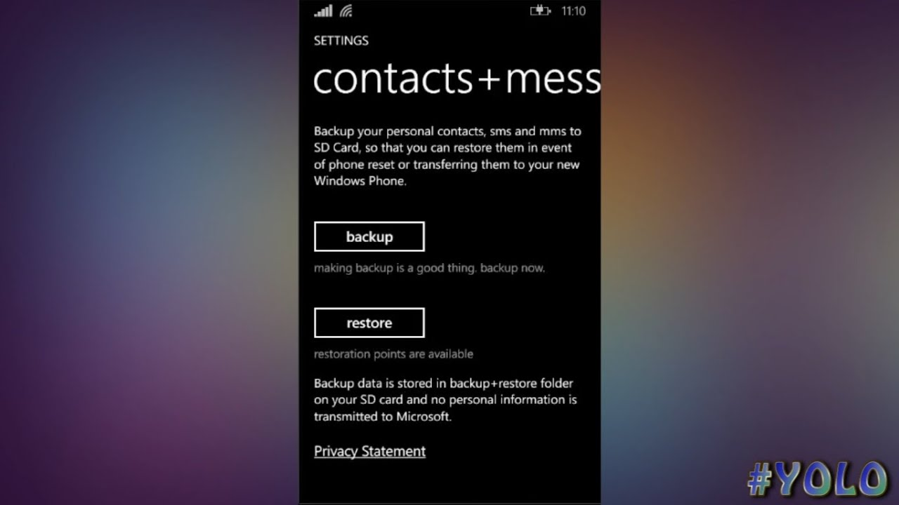 lumia backup contacts sms easy 2016 youtube