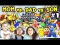 Lets Play Super Smash Bros 4 WiiU - Mom vs. Dad vs. Chase (BATTLE MODE FINALLY!) (Amiibo)
