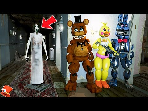 CAN THE ANIMATRONICS HIDE FROM SLENDRINA? (GTA 5 Mods FNAF Kids RedHatter) thumbnail