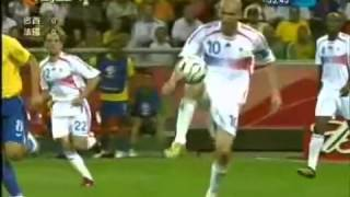 brazil vs france fifa world cup 2006 zidane skill youtube