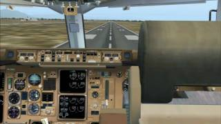 FS2004 - Thomson 767 landing at Kavala (Greece)
