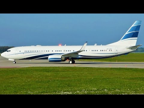 [FullHD] Mid East Jet Boeing 737-900ER(BBJ) takeoff at Geneva/GVA/LSGG