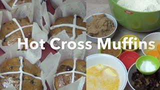 Hot Cross Muffins Cheekyricho Easter Recipe