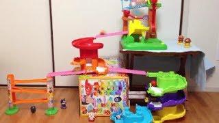 コロロンパーク3つを合体させて遊んでみた♪② Kororon park series with daruma  アンパンマンのおもちゃ thumbnail