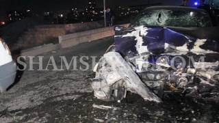 Խոշոր ավտովթար Երևանում  Ճակատ ճակատի բախվել են Mitsubishi ն ու BMW ն