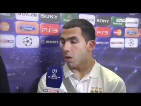 Carlos Tevez Refuses To Play - Post Match Interview - Man City vs. Bayern Munich - Champions