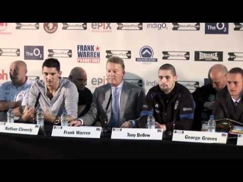 UNCUT -  NATHAN CLEVERLY V TONY BELLEW (O2 PRESS CONFERENCE) FOR iFILM LONDON.