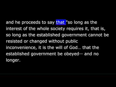 Thoreau - On the Duty of Civil Disobedience - Part 1 of 2