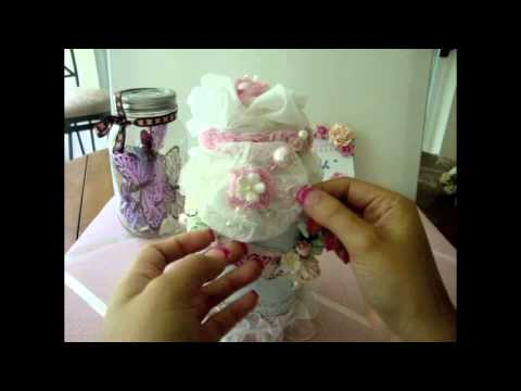 Shabby Chic Altered Glass Jar How to