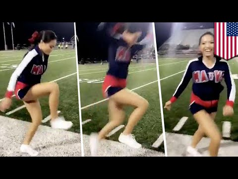Invisible Box Challenge: Texas cheerleader crushes challenge, fuels viral trend - TomoNews