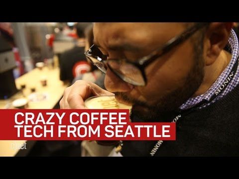 Look at this crazy coffee tech from the Seattle Global Coffee Expo
