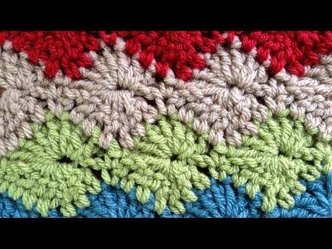 Catherine Wheel LEFT Crochet Stitch Part 2 Of 2 By Maggie Weldon