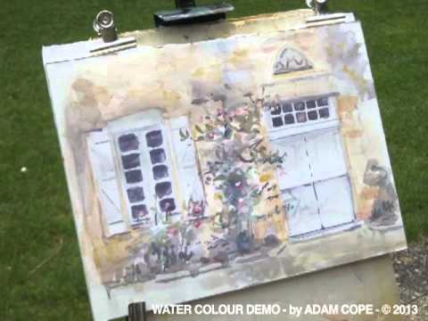 Watercolour Demo : French Country Windows & Flowers