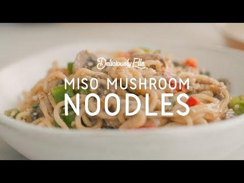 Miso Mushroom Coconut Noodles | Deliciously Ella | Vegan & Gluten Free