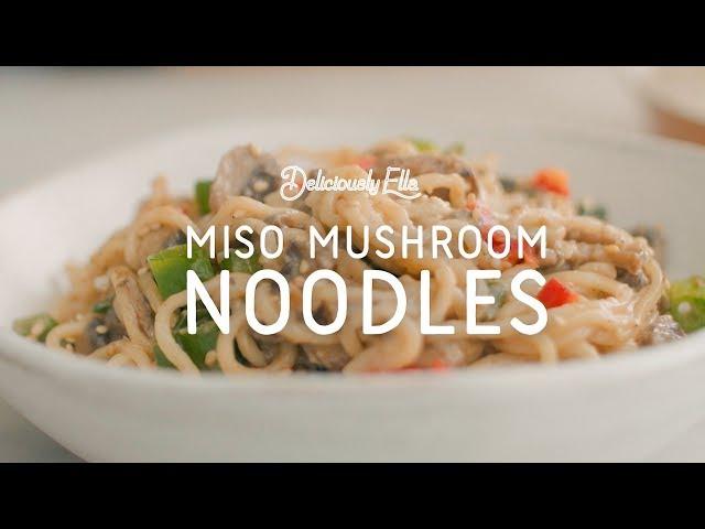 Short easy fast recipe of mushroom noodles in telugu