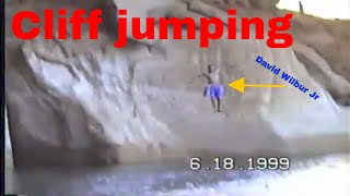 Cliff jumping at Lake Powell