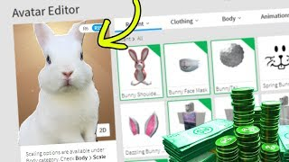 MAKING MY BUNNY A ROBLOX ACCOUNT (SNOWY)