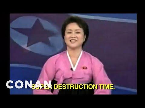 North Korea's New Propaganda Video Is Deadly Serious - CONAN on TBS