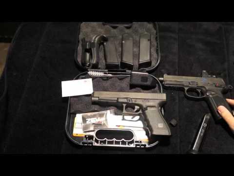 Glock 41 Gen 4  MOS VS FNH FNX 45 Tactical: A Big Pistol Shoot Out! Un Box