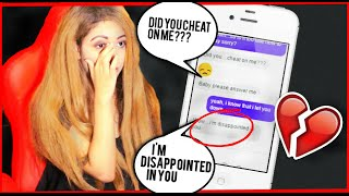SONG LYRIC PRANK ON MY BOYFRIEND (GONE WRONG!!)